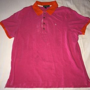 Pink and Orange Ralph Lauren Polo Shirt